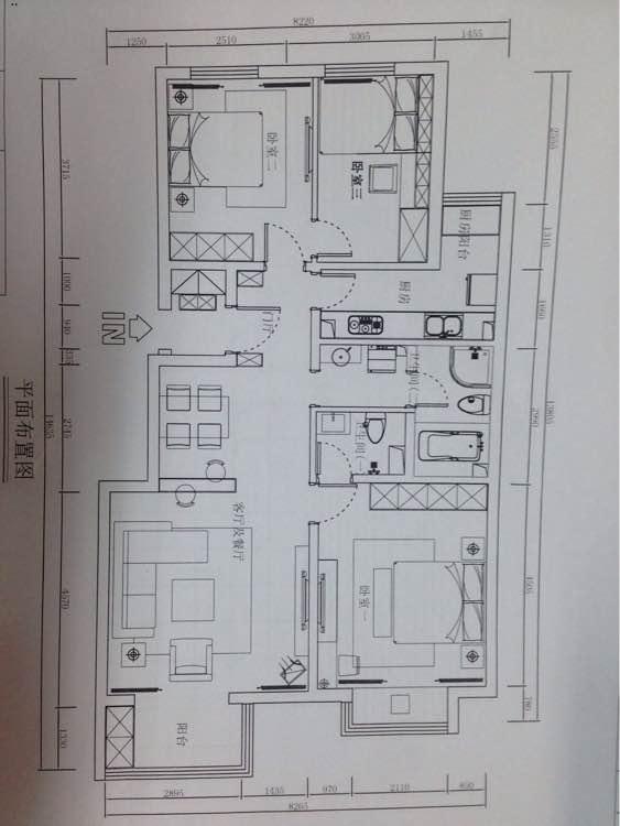 120平 3室2厅1厨2卫