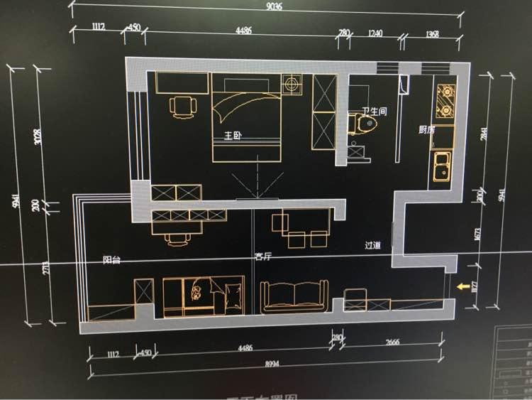 70.00㎡ 2室1厅1厨1卫 现代简约
