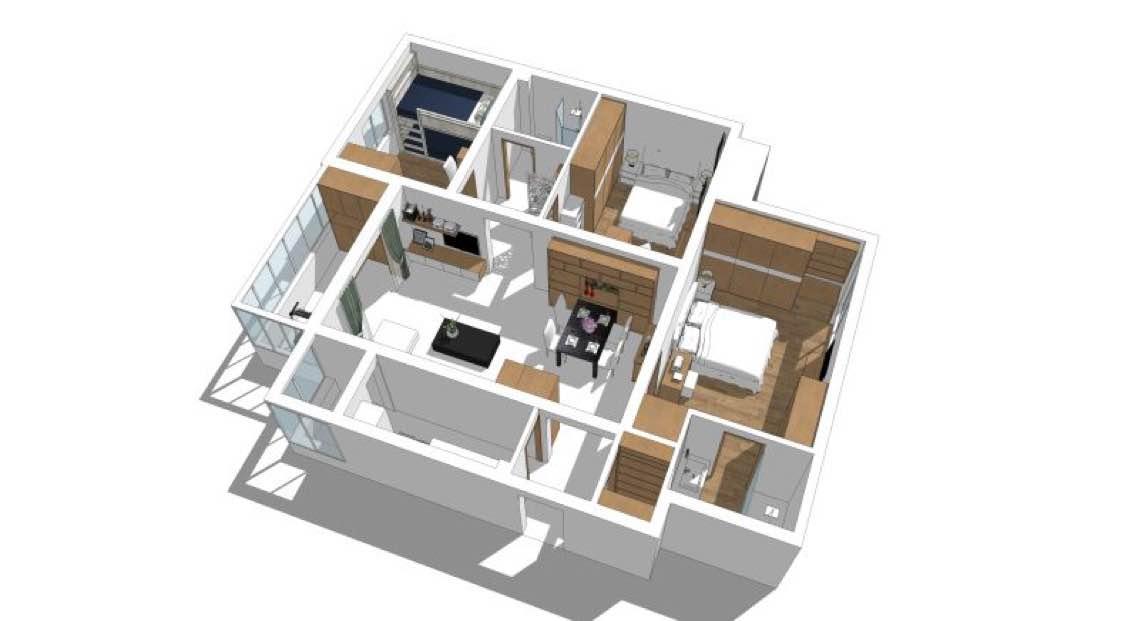 116平 三室一厅两卫