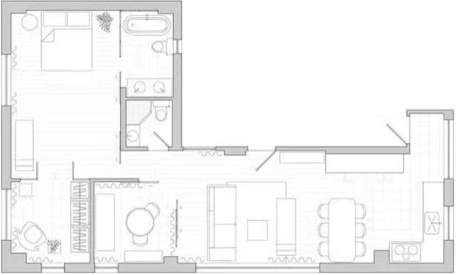 65平 2室1廳1廚1衛