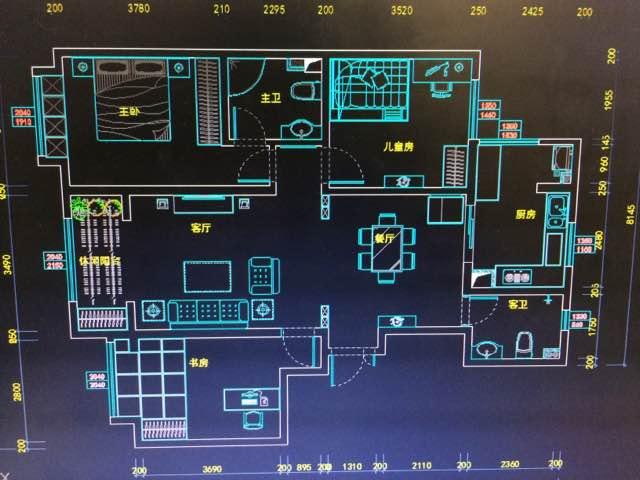 123平 3室2廳1廚2衛