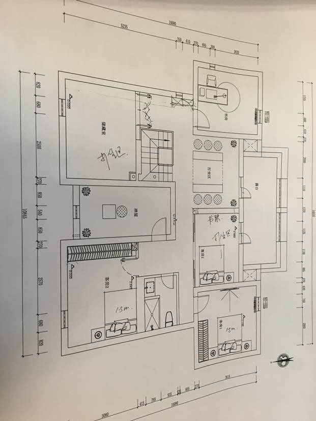 153.00㎡ 三室二厅一厨二卫 中式