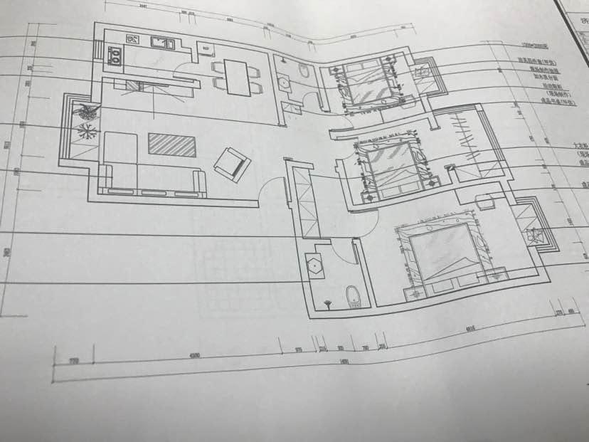 123平 3室2厅1厨1卫