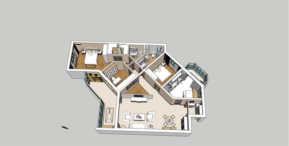 127平 3室2廳1廚2衛