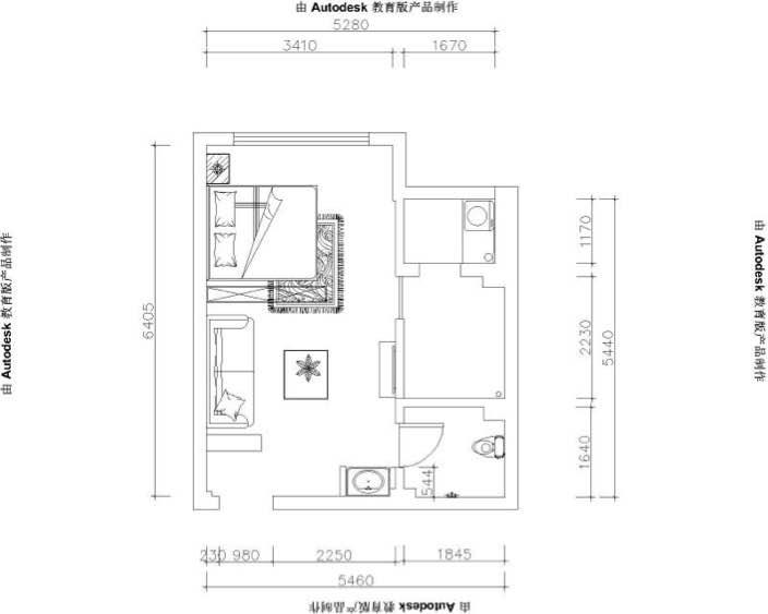 45平 1室1厅1厨1卫