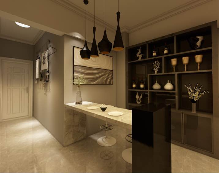 58.84㎡ 二室一厅一厨一卫 现代简约