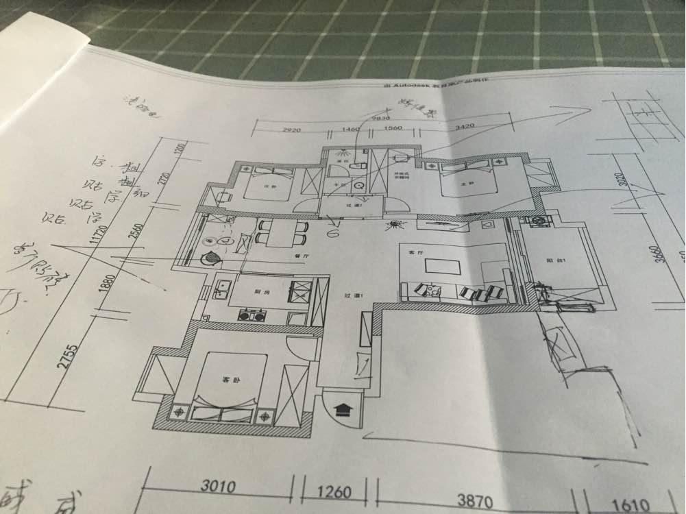 114.00㎡ 三室二厅一厨二卫 北欧风格